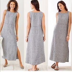 J Jill Love Linen Maxi Dress- Size Small